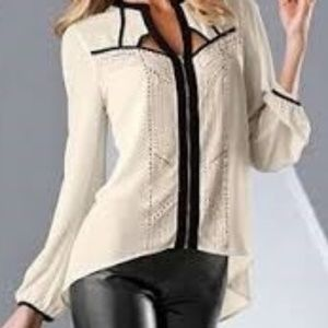 NWOT Studded Cut Out Blouse from VENUS